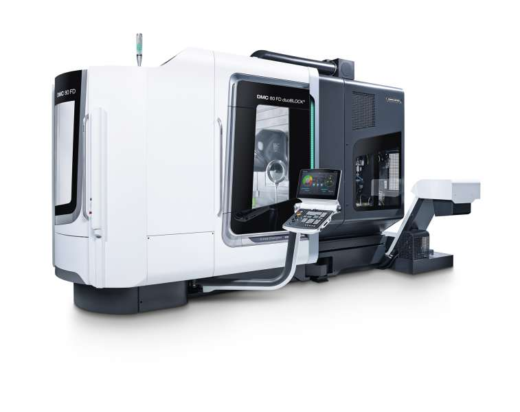 DMC 80 FD five axis milling and turn-mill machine