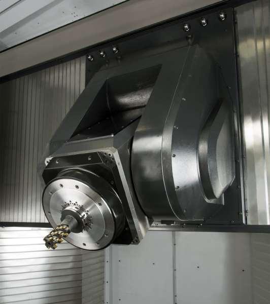 Makino's T1 five axis HMC designed for aerospace job shop environments