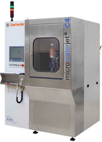 Micro Waterjet's new waterjet cutting machine