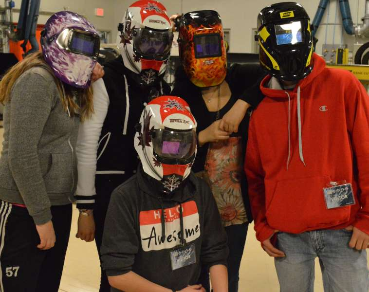 Liberty for Youth Group learn about welding
