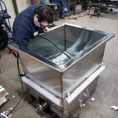 These stainless steel tanks are destined for Canadian pharmaceutical companies