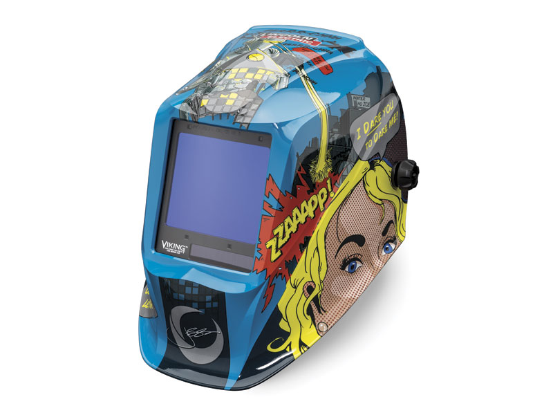 A welding helmet must remain a comfortable piece of gear throughout the day.  Image: Lincoln Electric