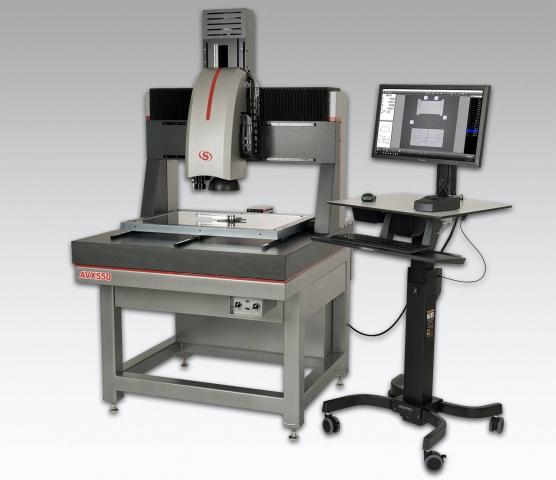 L.S. Starrett Co.'s AVX550 Multi-Sensor Vision System is equipped with the M3 software package from MetLogix